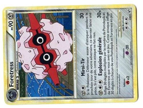 POKEMON INDOMPTABLE HOLO N°   3//90 FORETRESS