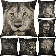 "18/"" Lion Print Square Home Decorative Throw Pillow Case Sofa Waist Cushion Cover"