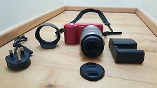 Sony Alpha Nex 3 - 14.2MP - Digital Mirrorless Camera - Red 18-55mm lens -
