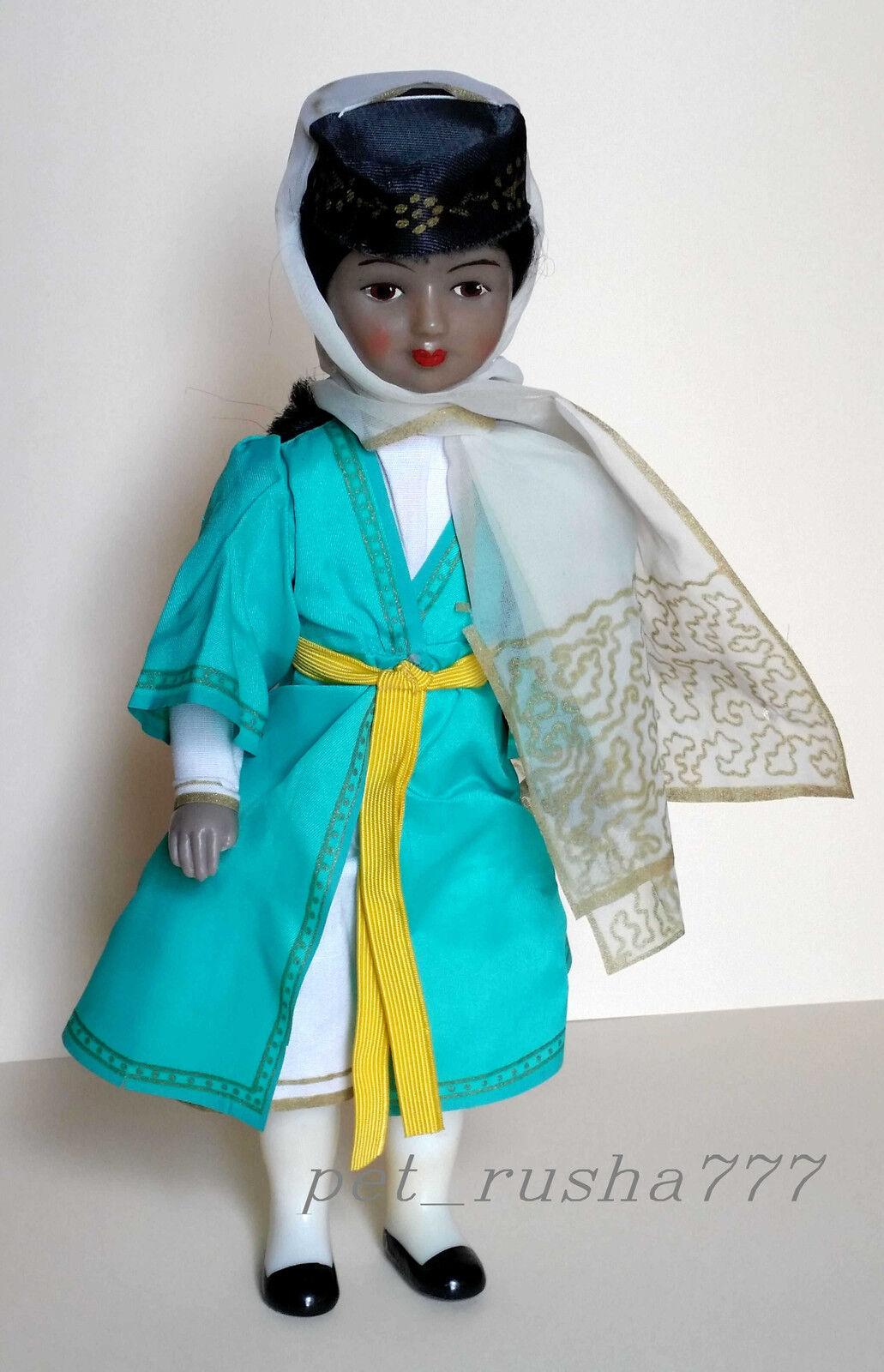 Años 70 Urss Rusa Soviética Plástico Folk georgiano Muñeca artista Marianna motovilova