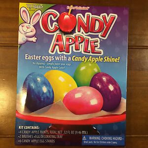 New 4 Packs Easter Unlimited Candy Apple Easter Egg Coloring Kits ...