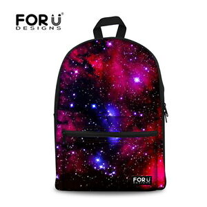 53714d9735 Image is loading Galaxy-Backpack-Canvas-School-Fashion-Shoulder-Bag-for-