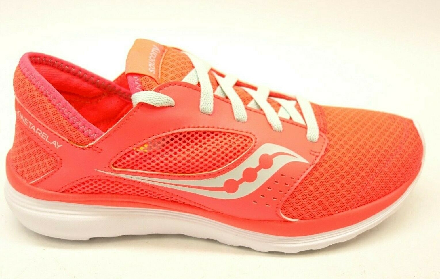 Saucony Womens Kineta Relay Neon Athletic Support Terrain Running shoes Sz 9.5