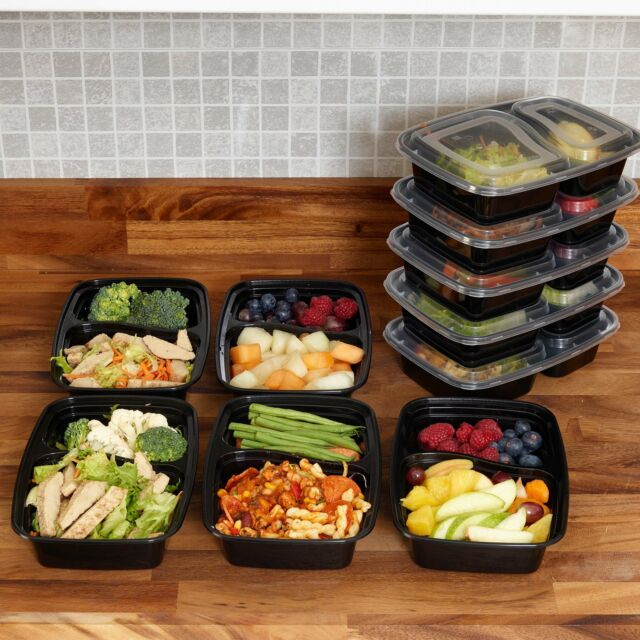 d4e1c87c4c6a Meal Prep Food Containers BPA Free Plastic Lunch Box Lids Reusable  Microwavable