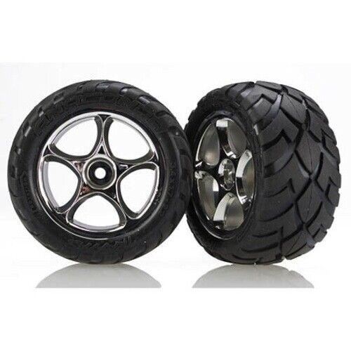 Traxxas TRA2478R Chrome Tracer 2.2 Wheels Anaconda Tires Rear Bandit VXL XL-5 2