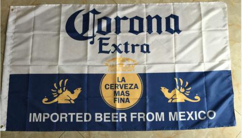 3/' x 5/' Corona Extra Beer Flag//Banner
