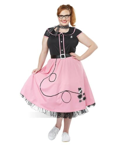 50/'s Sweetheart Women/'s Costume Womens Retro 50/'s Sock Hop Poodle Skirt Costume
