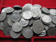 50 limpia Rey George Vi sixpences 1947-51