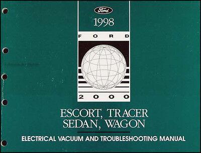1998 Ford Escort Mercury Tracer Electrical Troubleshooting Manual Wiring  Diagram   eBay   1998 Mercury Tracer Wiring Diagram      eBay