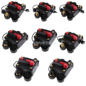 20a 300a amp inline auto manual reset circuit breaker 12v 24v audio fuse holder ebay. Black Bedroom Furniture Sets. Home Design Ideas