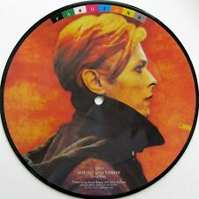 "DAVID BOWIE 'SOUND AND VISION' UK PICTURE DISC 7"" SINGLE (FROM FASHIONS SERIES)"