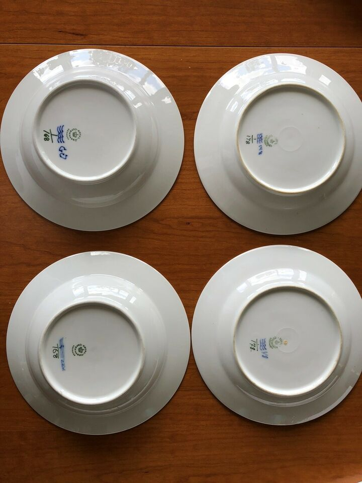 Porcelæn, Musselmalet tallerkner, Kgl porcelæn