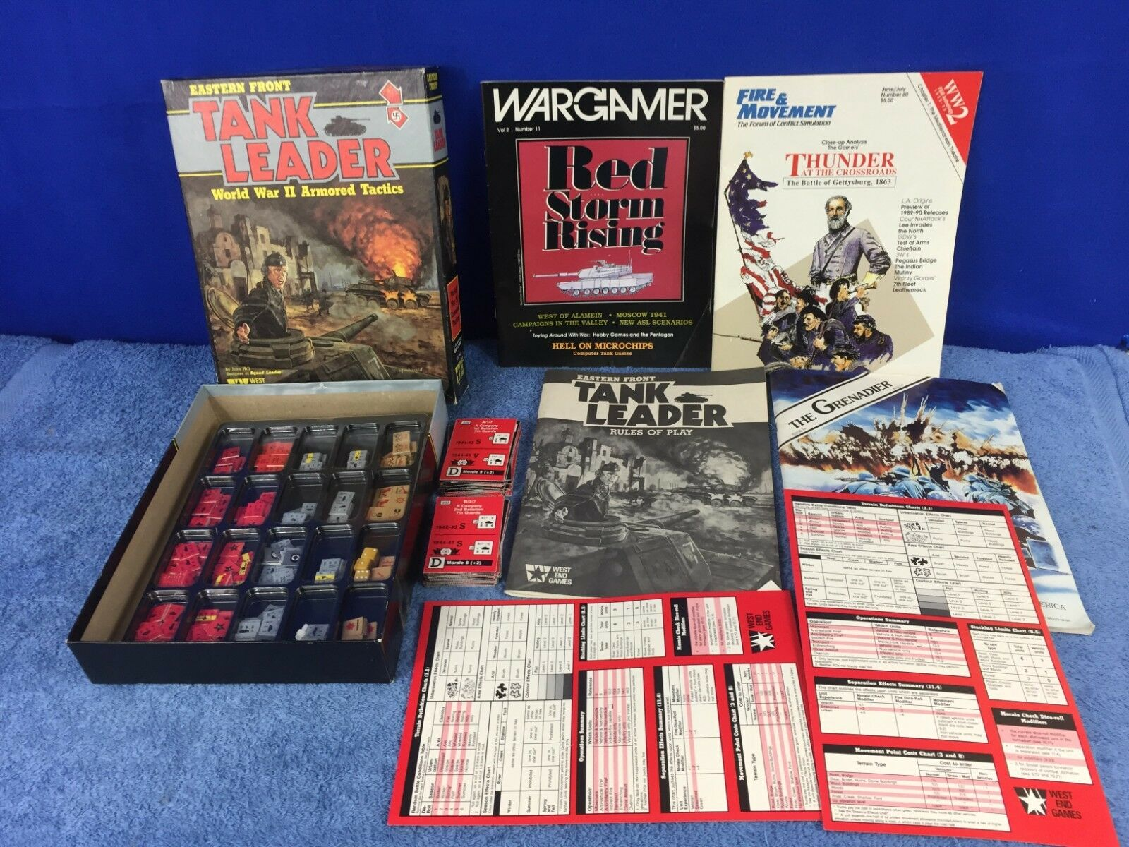 West End Eastern Front Tank Leader WWII Military Strategy BookCase Board Game