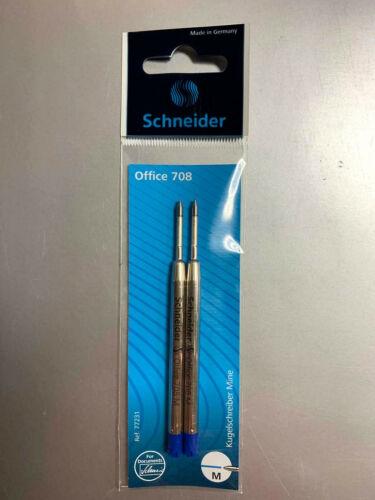 Schneider Kugelschreiber Minen M Office 708 2er Pack Parker System Großraummine