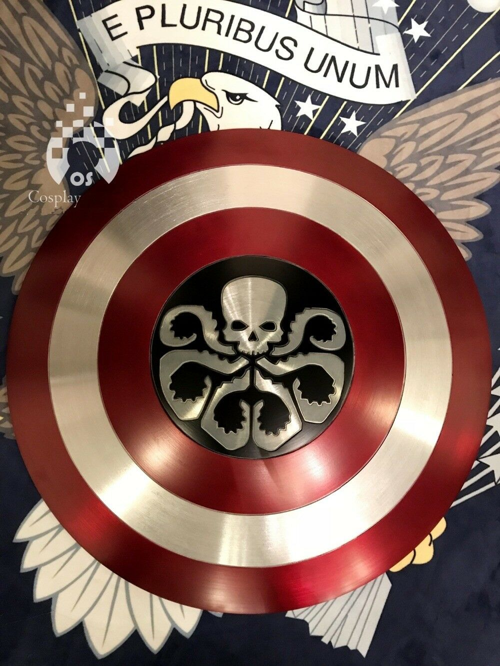 CAPTAIN AMERICA Hydra Shield  made in Aluminium 23   cosplay Metal shield