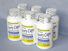 IVORY CAPS PILLS GLUTATHIONE SKIN WHITENING 1500 MG THISTLE - 6 BOTTLES