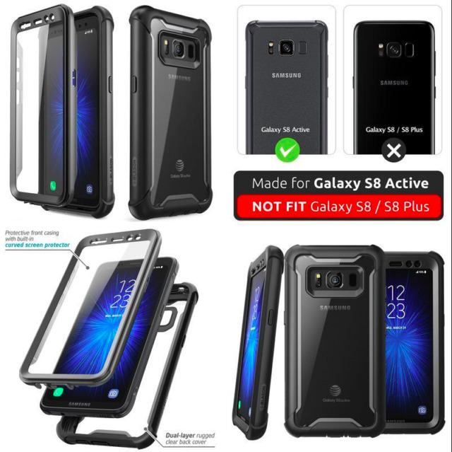 low priced 9f4ed 479c7 S8 Active Case With Screen Protector Galaxy Samsung Lifeproof Tempered  Glass Sam