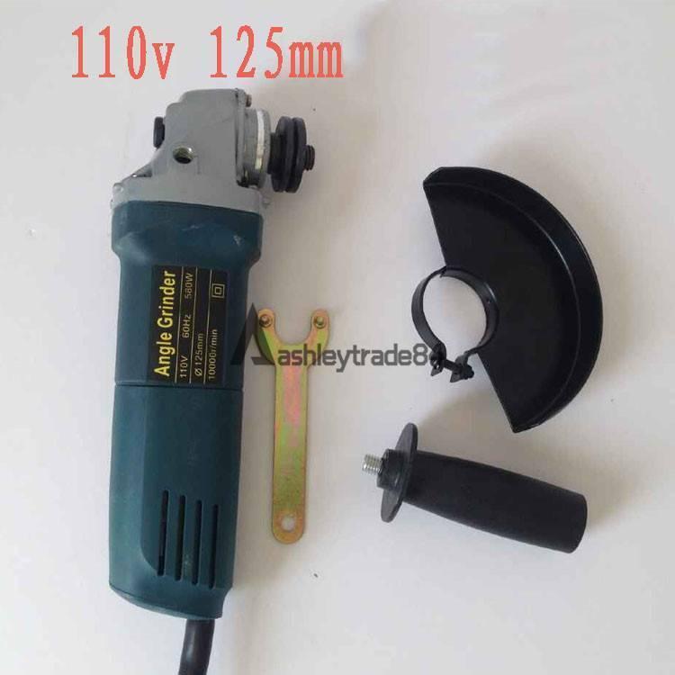 110V 125mm Angle Grinder AG100NB 580W Cut‑Off Angle Grinder Tool New