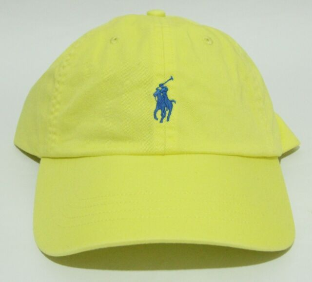 BRAND NEW WITH TAGS POLO RALPH LAUREN SHOCKING YELLOW CLASSIC SPORT HAT CAP 6a343e28224