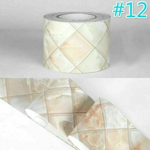 5M Selbstklebend Marmor Wand Sockelleiste Bordüre Tapete Sticker
