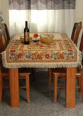 Chic Round Square Rectangule Tapestry Country Rustic Morning Meadow Tablecloth