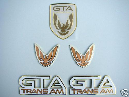 NEW 91-92 GTA Trans Am Emblem 5pc Set WHITE