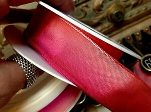 """VINTAGE FRENCH RIBBON wire PINK PURPLE 5//8/"""" or 7//8/"""" OMBRE 1yd Made in France"""