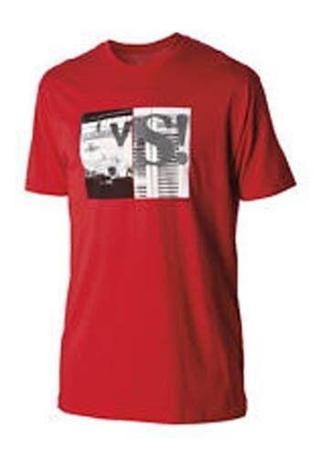Red S1651200-03 M Nixon Versus Short Sleeve Tee T-Shirt