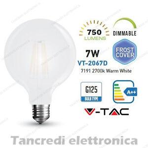 Lampadina-led-V-TAC-dimmerabile-7W-E27-bianco-caldo-2700K-VT-2067D-G125-globo