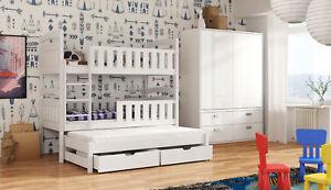 Etagenbett 3 Personen : Etagenbett hochbett anatol trio für personen inkl matratze
