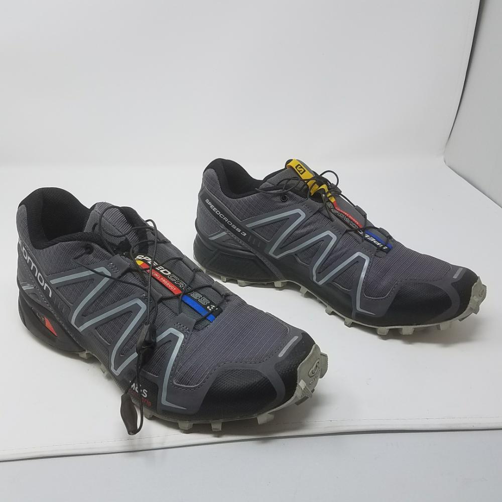 Salomon Men's Speedcross 3 Trail Running Shoe,Dark CloudBlackLight Onix,9 M US