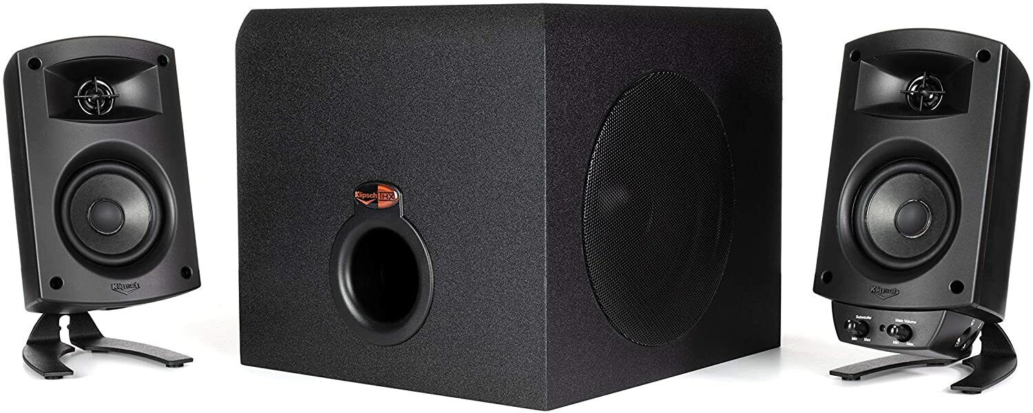 Klipsch ProMedia 2.1 THX Certified Computer Speaker System - Black - Pre Owned. Buy it now for 95.00