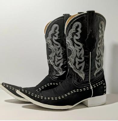 Cowboy Boots White Diamonds Long Toe