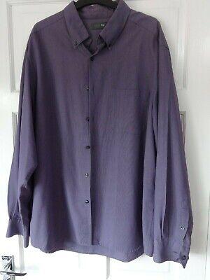 #o10 - Viola L/manica Check Camicia Da M&s - Taglia Xl-