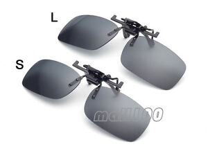 Clip on Flip up Sunglasses Rimless Grey Lens Driving Glasses Men Sports Eyewear