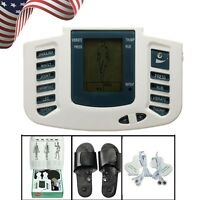 【us】seller Digital Stimulator Massager Full Body Relax Pulse Acupuncture Therapy