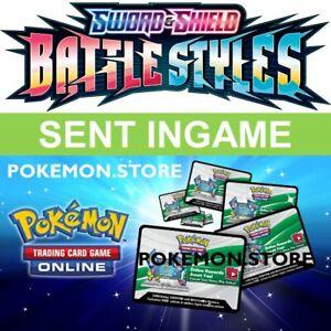 100 Battle Styles Codes Pokemon TCG Online Booster PTCGO SWSH5 sent INGAME