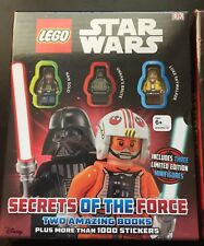 Lego Star Wars Secrets of The Force Boxed Set 3 Minifigures 2 Books Stickers