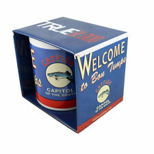 True Blood WELCOME TO BON TEMPS Ceramic MUG Blue White