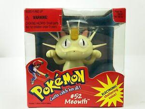 Vintage-Pokemon-Meowth-52-Electronic-Chattering-Voice-Figure-Hasbro-1998-NEW