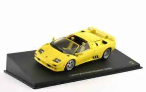 Altaya-1-43-Scale-Lamborghini-Diablo-Roadster-Yellow-2000-Diecast-Model-Car
