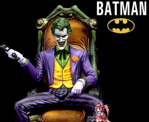 Batman Dark Knight Movie Comic ver Joker on Throne 1//8 Figure Vinyl Model Kit