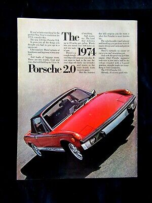 """1971 Porsche 914 The Space Porsche Original Print Ad 8.5 x 11/"""""""