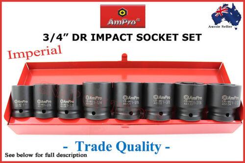 """3//4/"""" DR IMPACT SOCKET SET AMPRO PROFESSIONAL QUALITY AIR TOOLS GUN SPECIAL AF"""