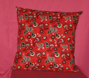 "Paisley Multi Color Handmade Throw Pillow Cover 12/""x18/"" Ohio State"