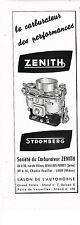 PUBLICITE ADVERTISING 024   1953   ZENITH STROMBERG      carburateur 2