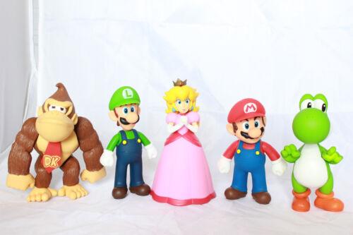 Super Mario Figurines Lot Collection Brothers Bros Luigi Peach Kong Yoshi