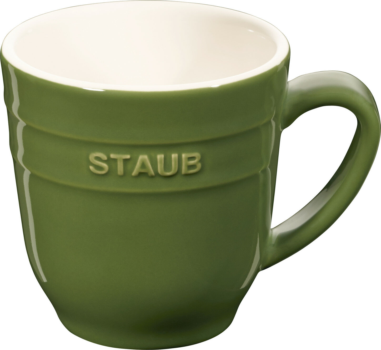 Set of 4 Staub Ceramic Cups Coffee Cups Coffee Cup Cup round Basil Green 0
