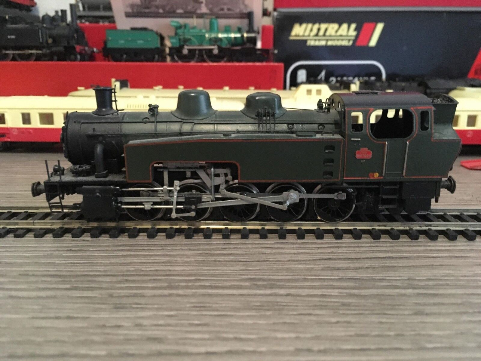Locomotive à vapeur 050 TQ 24 SNCF Metrop échelle HO