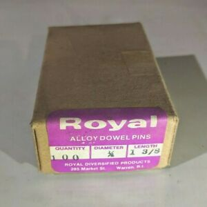"""Pack of 100-1//8/"""" x 5//8/"""" Royal Dowel Pins Alloy Steel"""